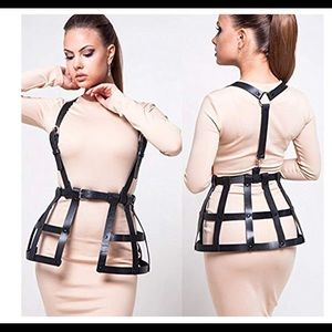 Sexy caged harness belt